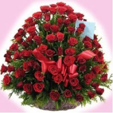 100 Red Roses Basket-230x230