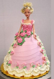 Barbie Doll  Cake (6)