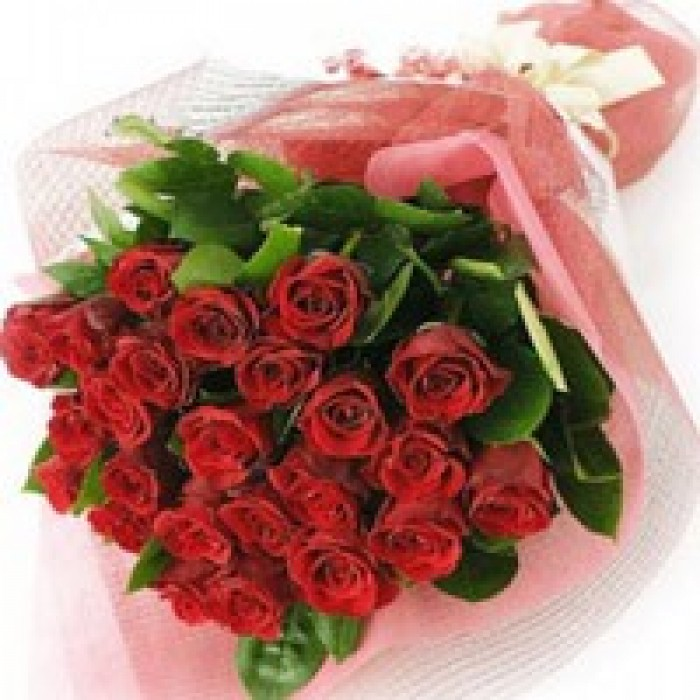 24 Red Roses - Hand Bunch-700x700
