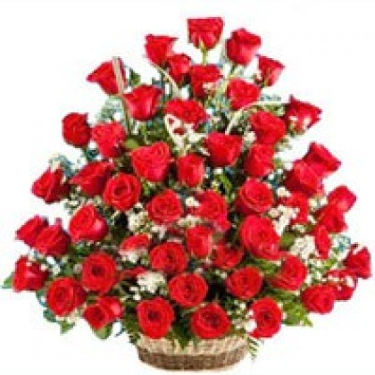 50 Red Roses Basket-420x420