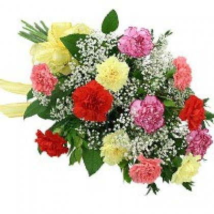 Multicolour Carnations - Hand Bunch-420x420
